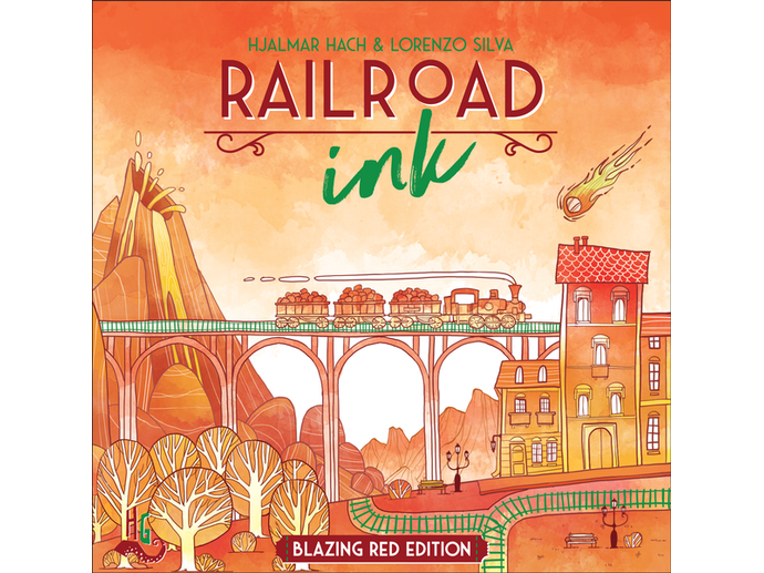 レイルロード・インク:ブレイズレッド・エディション(Railroad Ink: Blazing Red Edition)