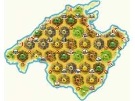 カタンの開拓者たち:マヨルカ島マップの画像