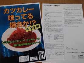 カツカレー喰ってる場合か!? :中学生編の画像
