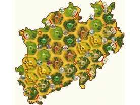 カタンの開拓者たち:ノルトライン: ヴェストファーレン州マップの画像