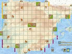 カルカソンヌ・マップ:イベリア半島の画像