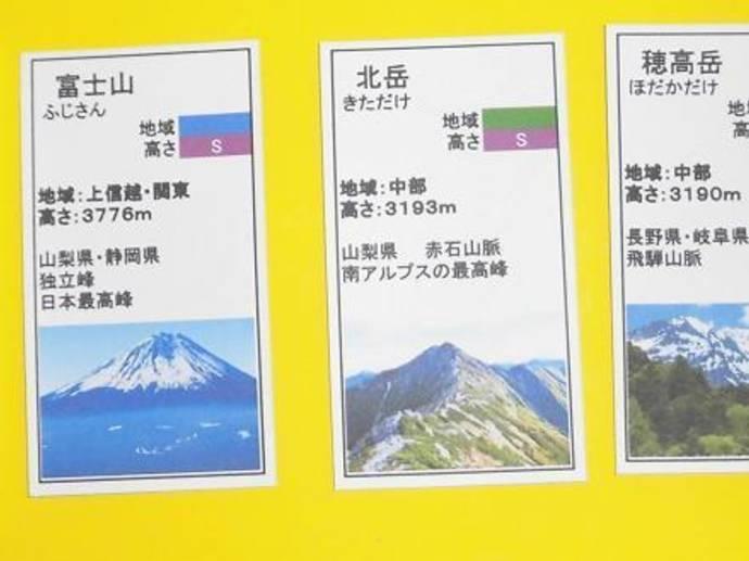 日本60名山カードゲーム