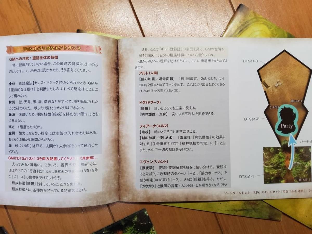 ソード・ワールド2.5 RPGスタートセット 星をつかむ迷宮(Sword World 2.5 RPG Start set Hoshiwo tsukamu meikyu)の画像 #59593 八神月さん