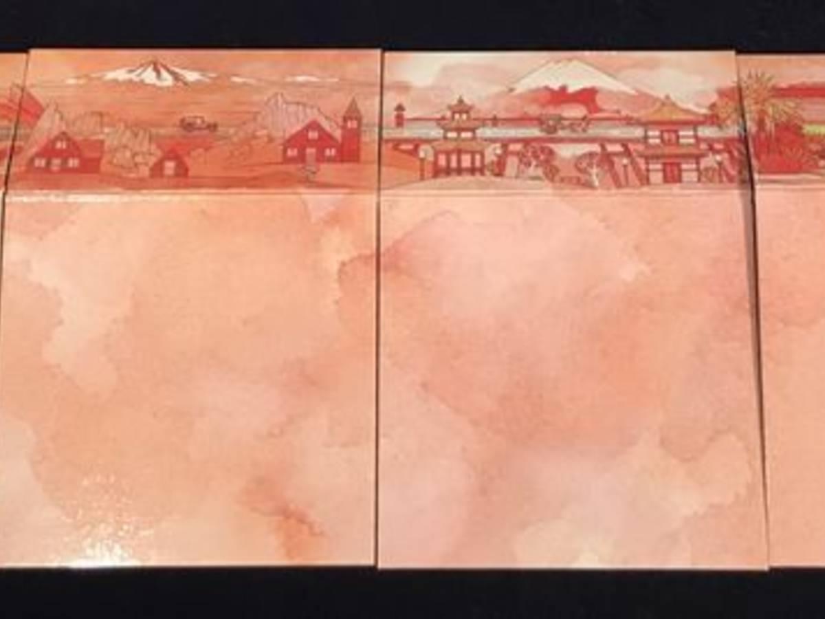 レイルロード・インク:ブレイズレッド・エディション(Railroad Ink: Blazing Red Edition)の画像 #50300 82BG@19秋GM(土日)出展さん