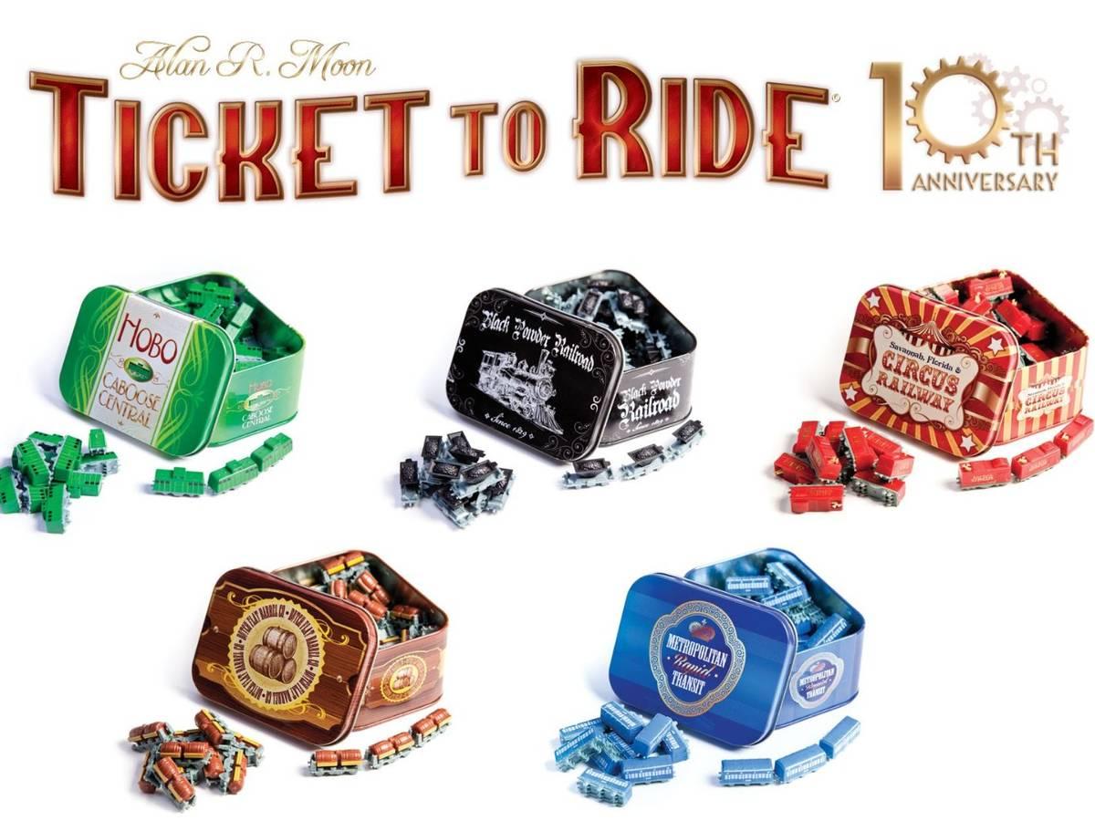 チケットトゥライド:10周年記念版 多言語版(Ticket to Ride: 10th Anniversary)の画像 #30945 ボドゲーマ運営事務局さん