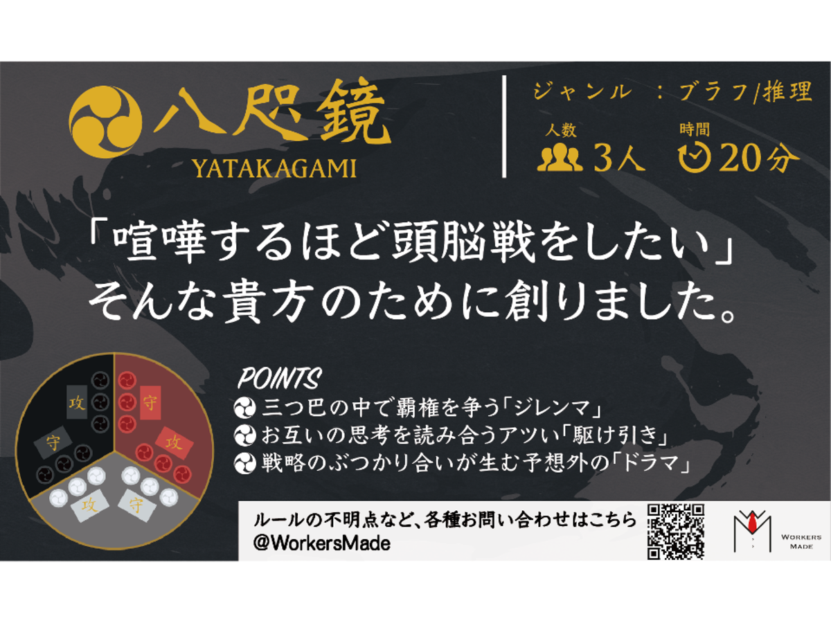 八咫鏡(YATAKAGAMI)の画像 #66556 Workers Made@ゲムマありがとうございました!さん