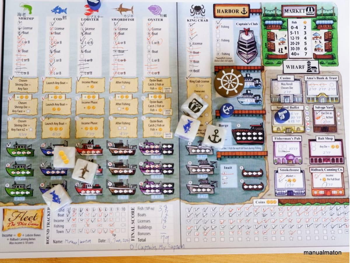 フリート:ダイスゲーム(Fleet: The Dice Game)の画像 #67948 手動人形さん