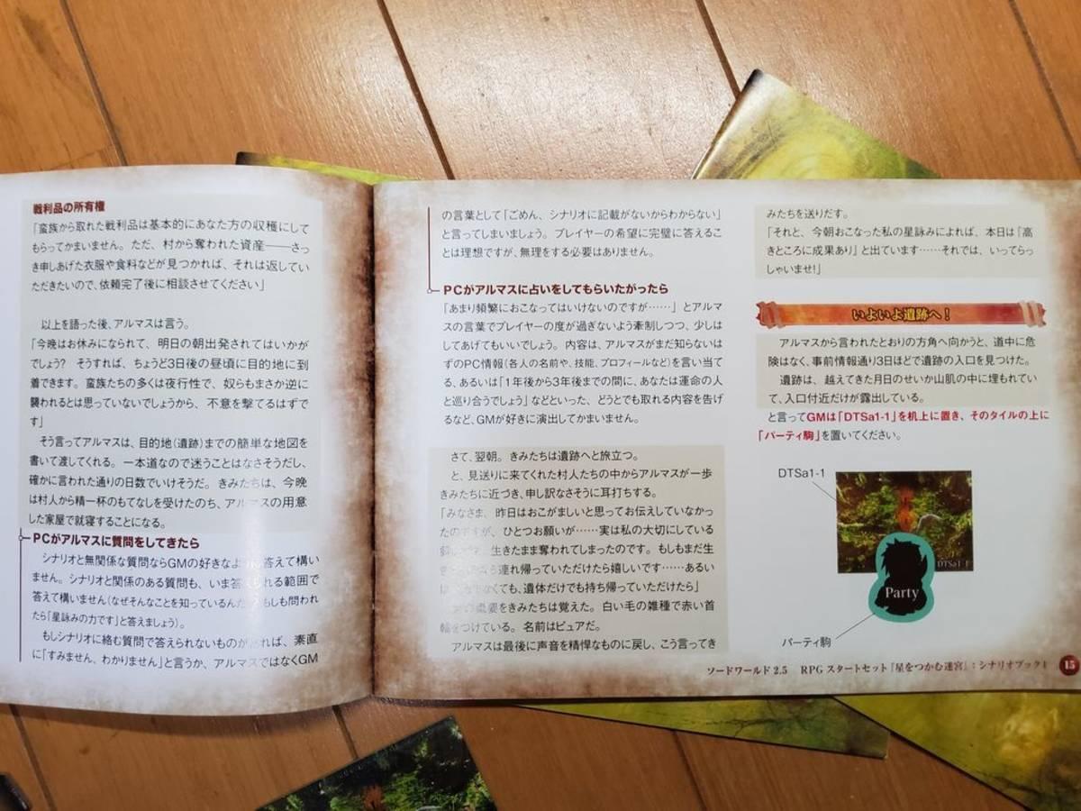 ソード・ワールド2.5 RPGスタートセット 星をつかむ迷宮(Sword World 2.5 RPG Start set Hoshiwo tsukamu meikyu)の画像 #59594 八神月さん