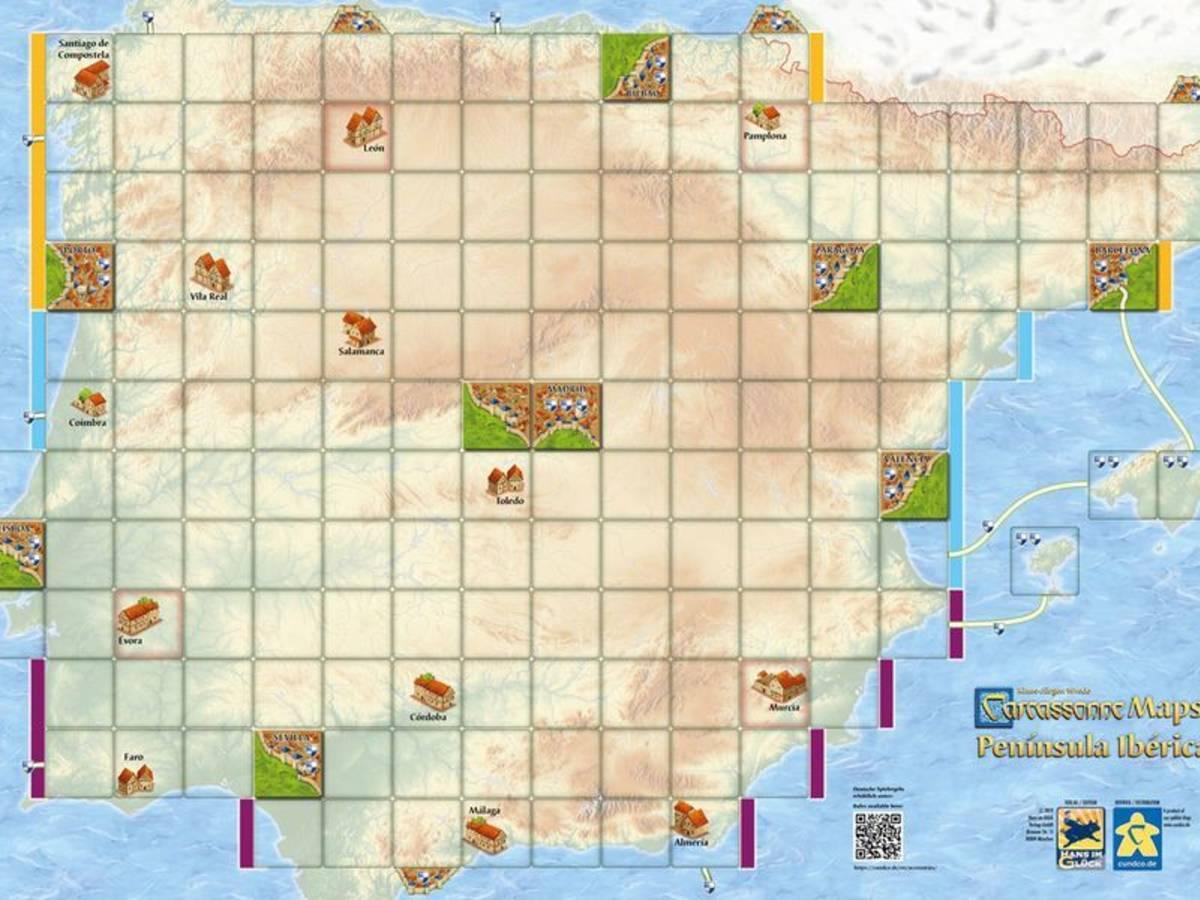 カルカソンヌ・マップ:イベリア半島(Carcassonne Maps: Península Ibérica)の画像 #56686 まつながさん